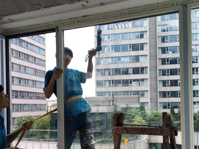 西城区西派国际4号楼断桥铝门窗封阳台