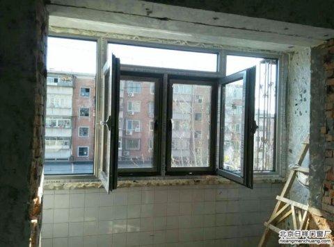 朝阳区大黄庄南里8号楼1单元断桥铝门窗安装