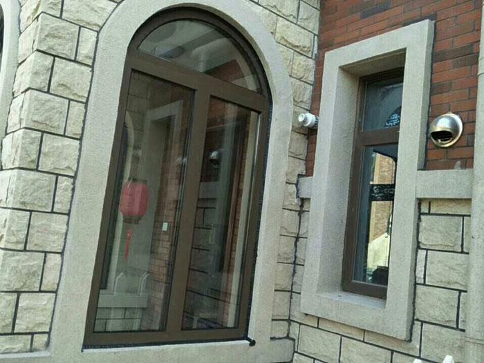 九龙湾别墅欧式圆弧顶断桥铝门窗