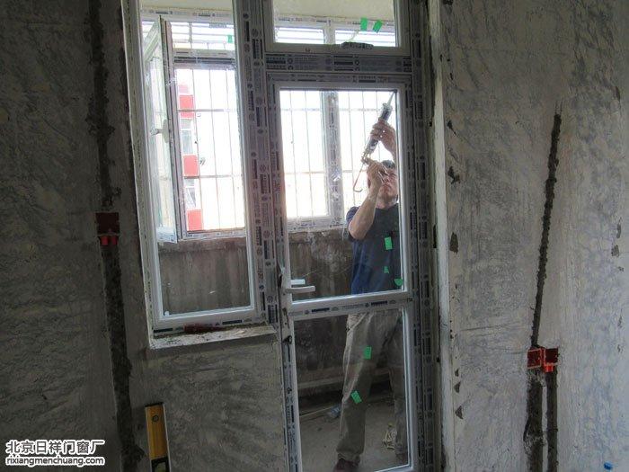 朝阳团结湖小区维卡斯特断桥铝门窗60系列平开上悬窗安装