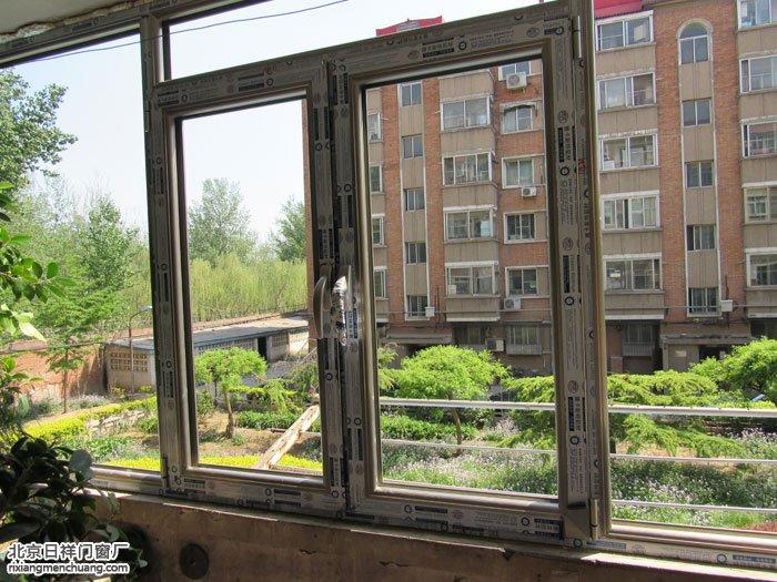 朝阳八里桥北东军庄60系列香槟色断桥铝封阳台