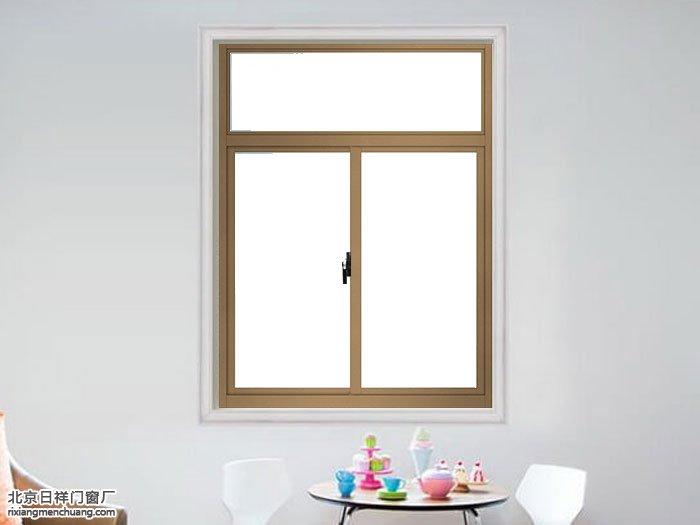 坚美断桥铝两轨推拉窗含金刚网一体纱窗