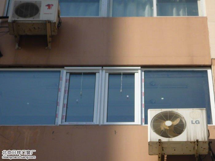 朝阳劲松农光里小区香槟色断桥铝门窗定做安装现场实拍