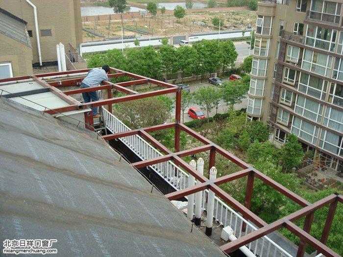 通州瑞都公园安装阳光房钢结构焊接