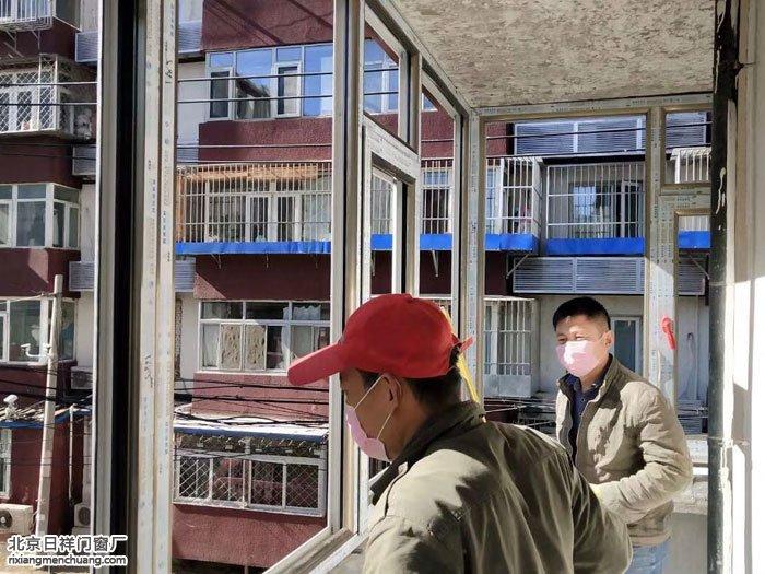朝阳区六里屯北里换窗户安装65系列断桥铝门窗封阳台