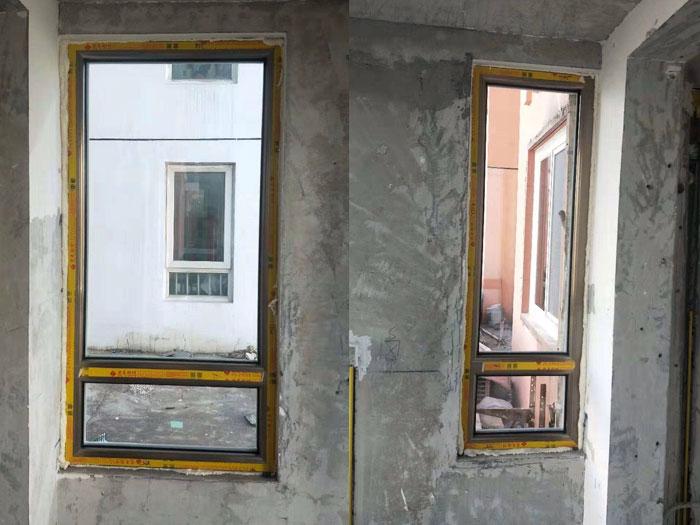 西城车公庄定做门窗安装阳台换窗户香槟色65断桥铝