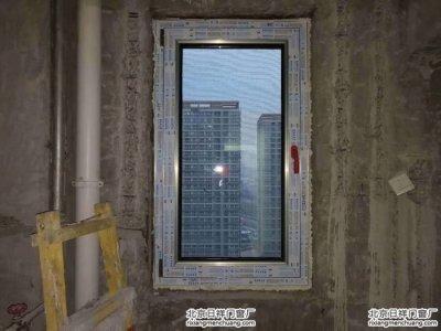 石景山七星园小区香槟色60系列断桥铝门窗安装